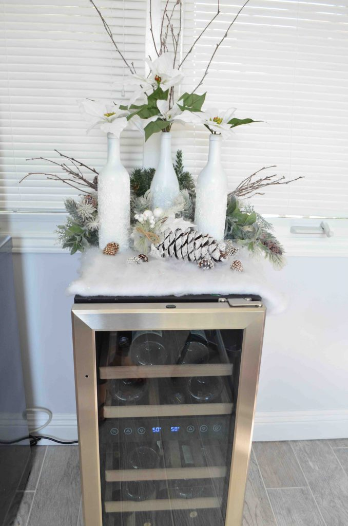 DIY Snowy Wine Decorations and NewAir Wine Fridge Giveaway