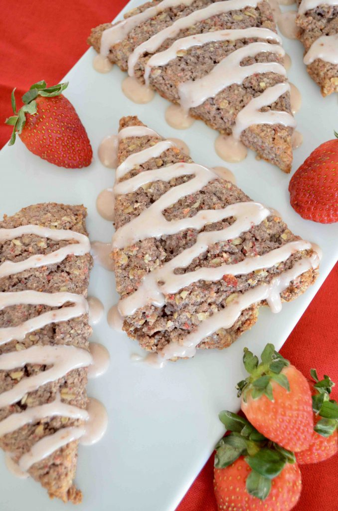 Pink Strawberry and Sour Cream Scones