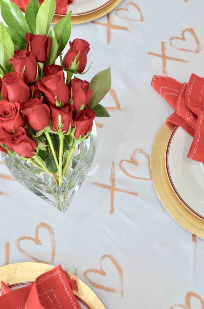 DIY XOXO Tablecloth and Table Runner