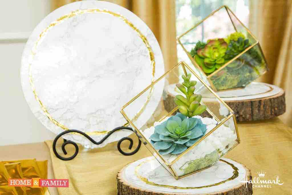 DIY Marble Charger on Hallmark's Home and Family