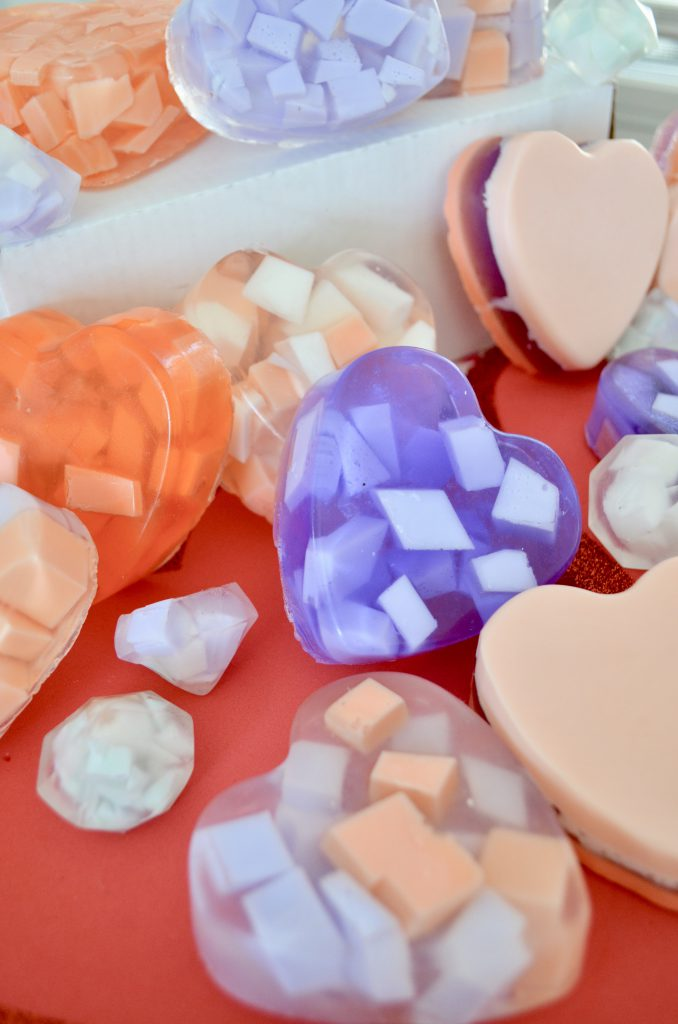 DIY Heart Soaps For Valentine's Day