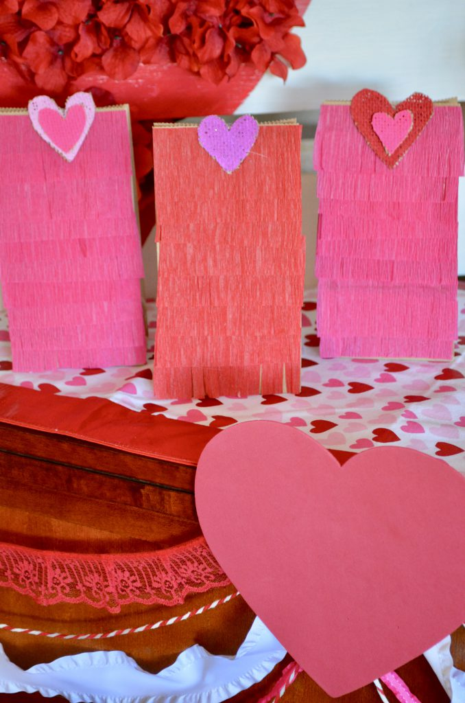 DIY Fringed Bags For Valentine's Day