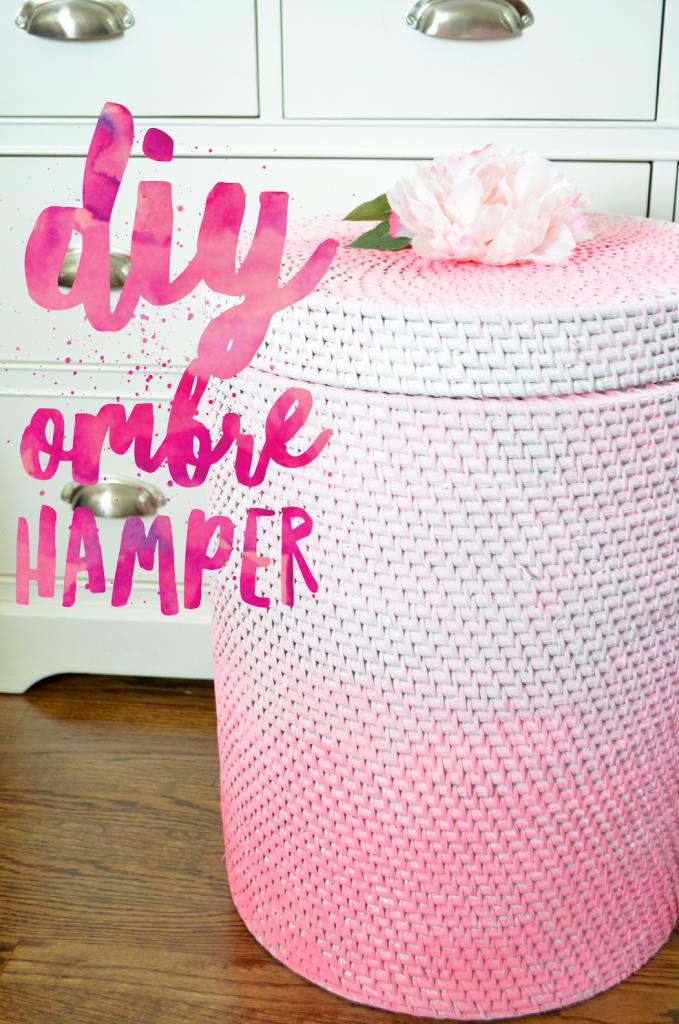 DIY Ombre Hamper