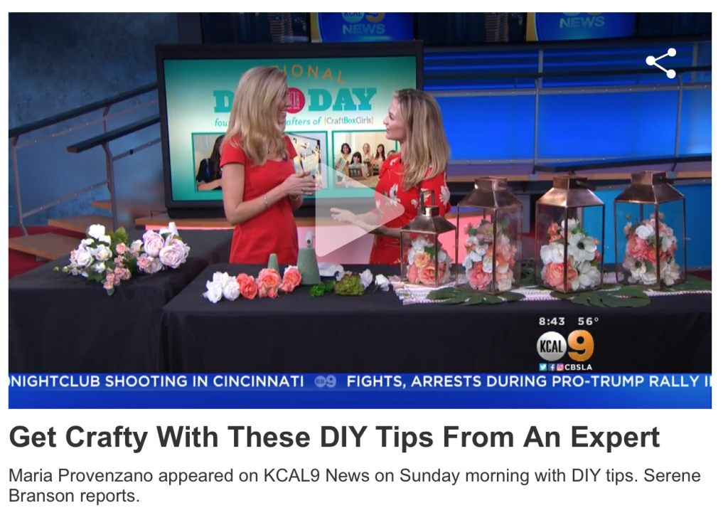 Getting Ready For National DIY Day on CBS Los Angeles