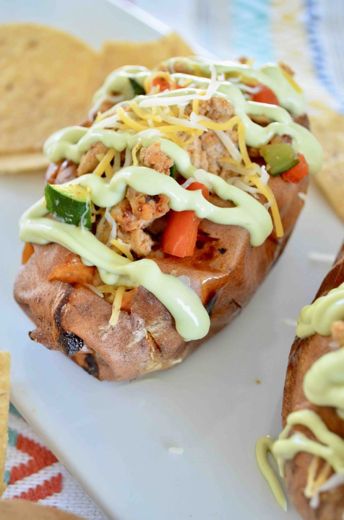 Sweet Potato Tacos with Avocado Sour Cream