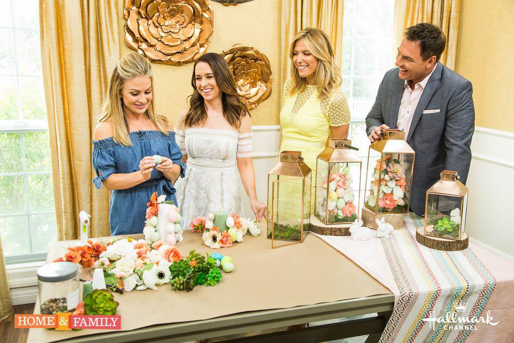DIY Floral Lanterns for Easter on The Hallmark Channel