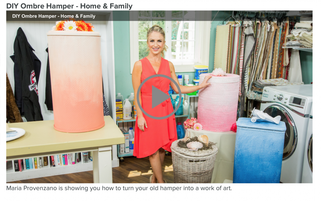 DIY Ombre Hampers on Hallmark's Home and Family Show