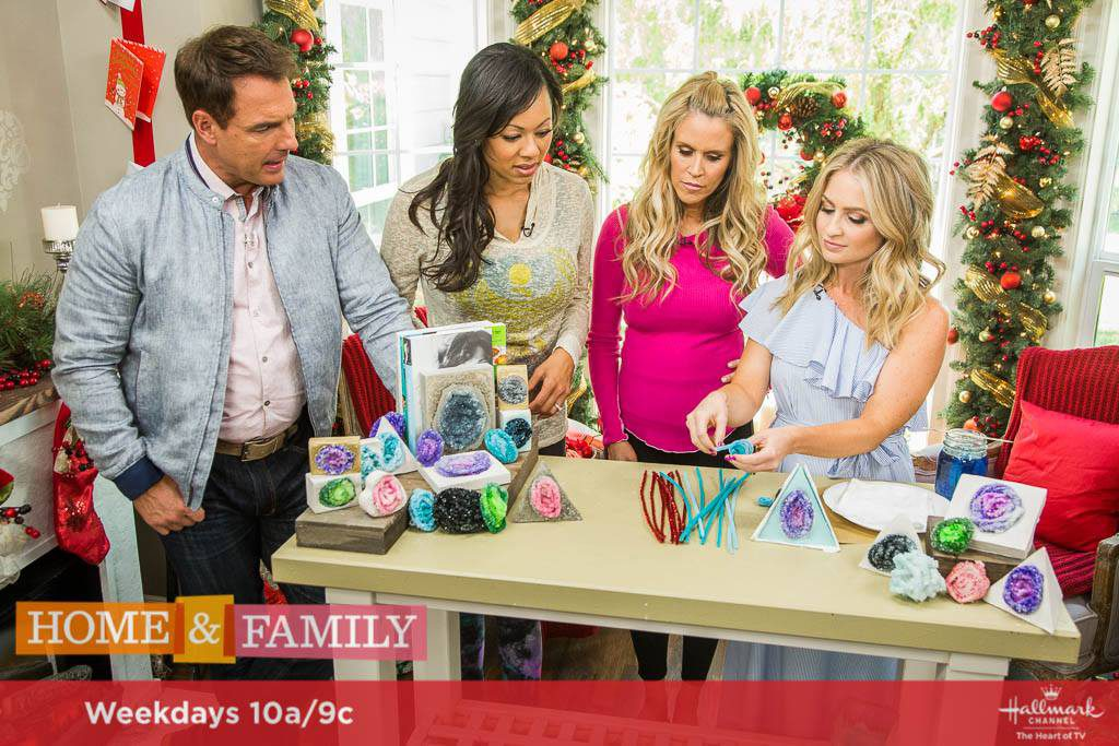 DIY Geodes on Hallmark's Home and Family