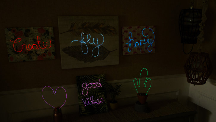 DIY Neon Signs on The Hallmark Channel's Home and Family