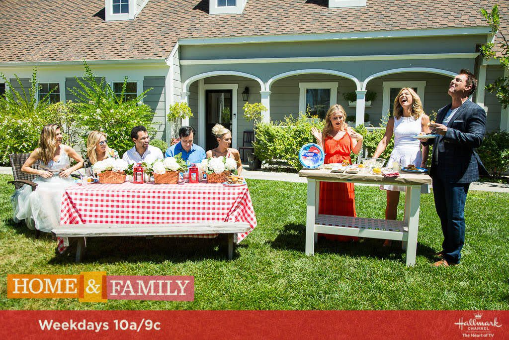 Salmon Sliders With Bacon and Peach Salsa on The Hallmark Channel's Home and Family Show