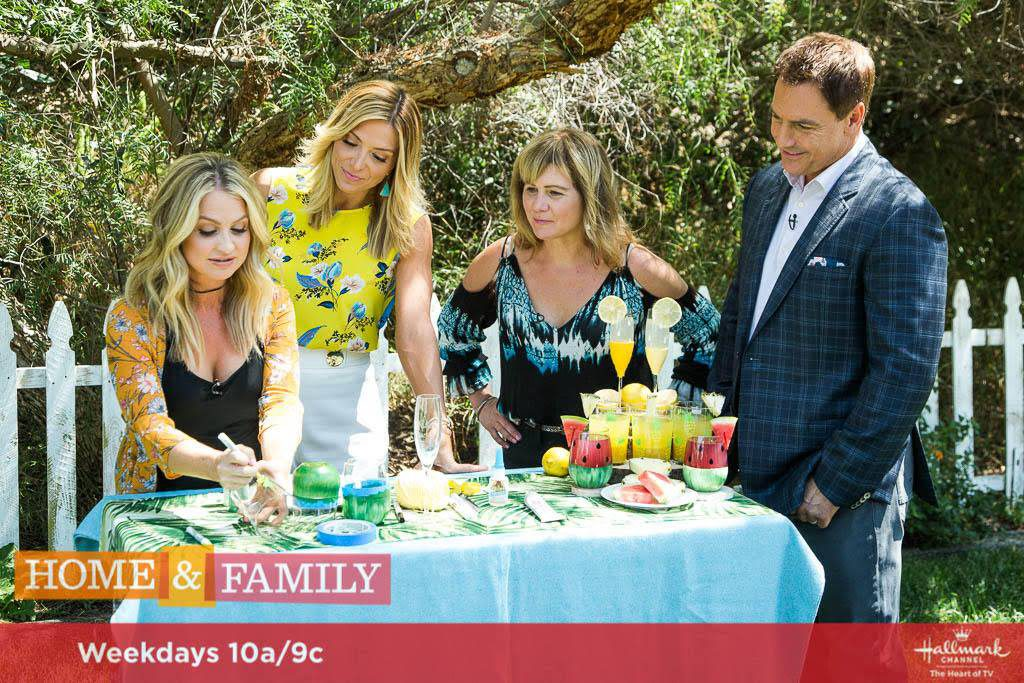 DIY Fruit Glasses on The Hallmark Channel's Home and Family Show