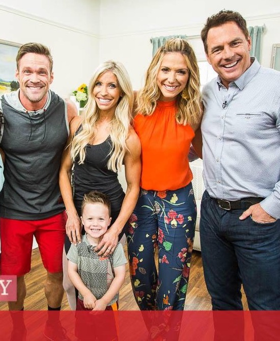 Family Workout with the Powell's on Hallmark's Home and Family Show
