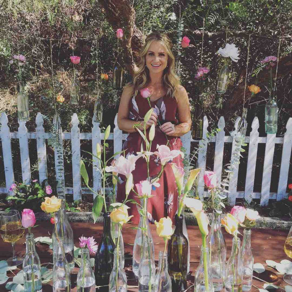 Summer Nights DIY Tablescape with Lights and Flowers