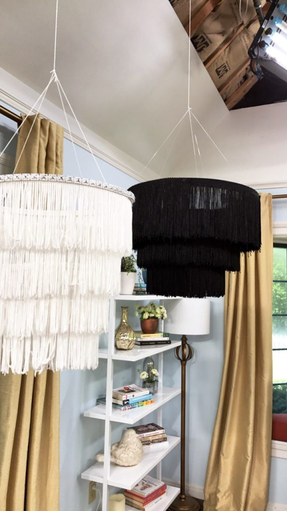 DIY Fringe Chandelier