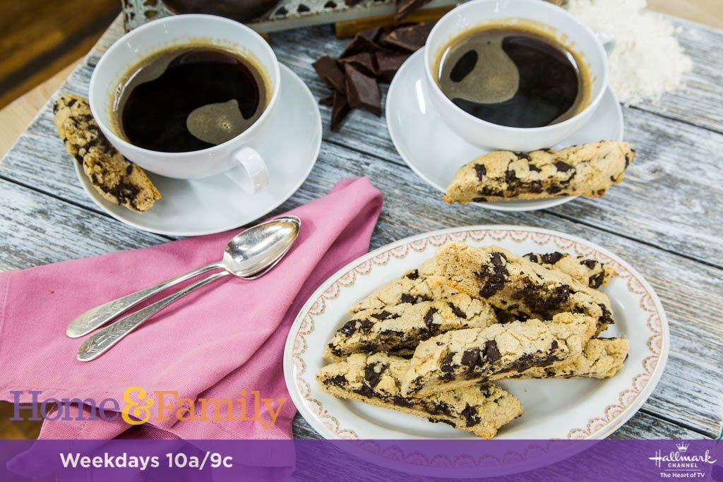 Chocolate Chip Biscotti in Hallmark Channel's Home and Family