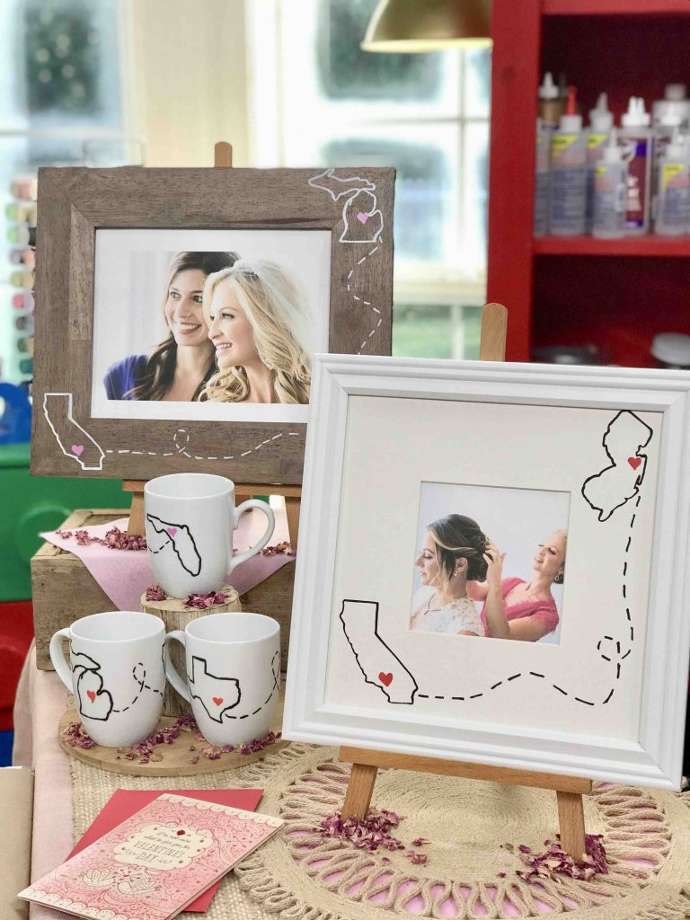 DIY Miss You State Mugs and Frames