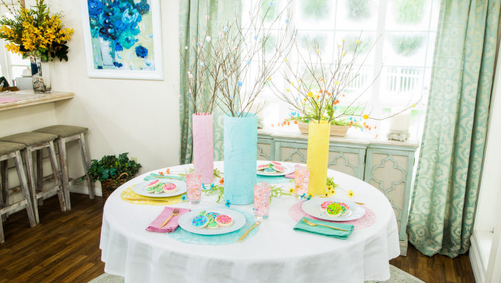 DIY Nested Placemats and Spring Table Setting