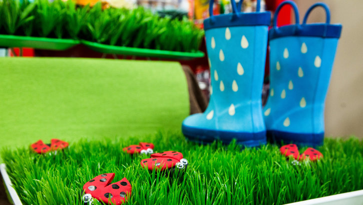 DIY Rain Boot Mat