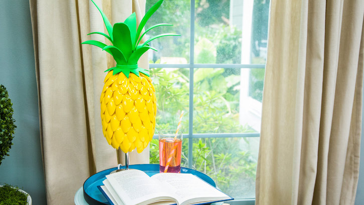DIY Pineapple Lamp