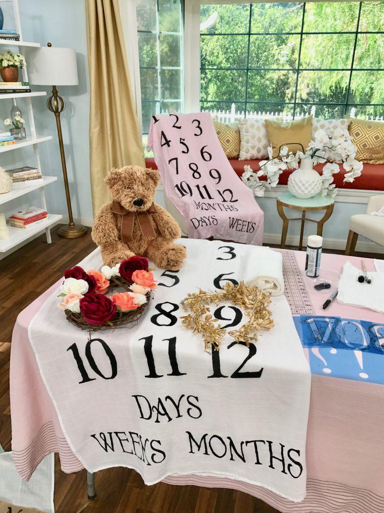 DIY Baby Milestone Blanket