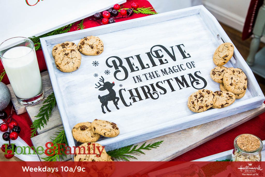 Christmas in July Santa Cookie Trays with Waterslide Decal Paper