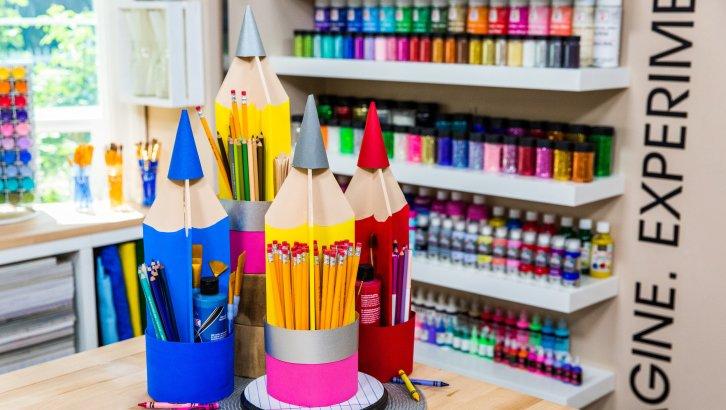DIY Giant Pencil Organizer