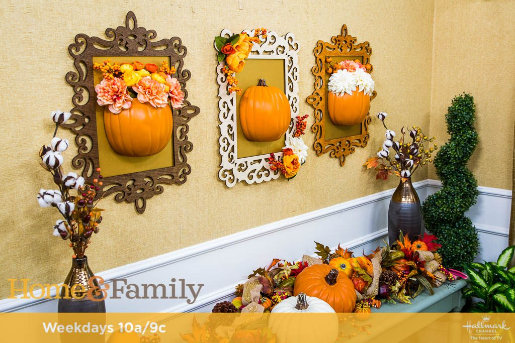 DIY Framed Pumpkins