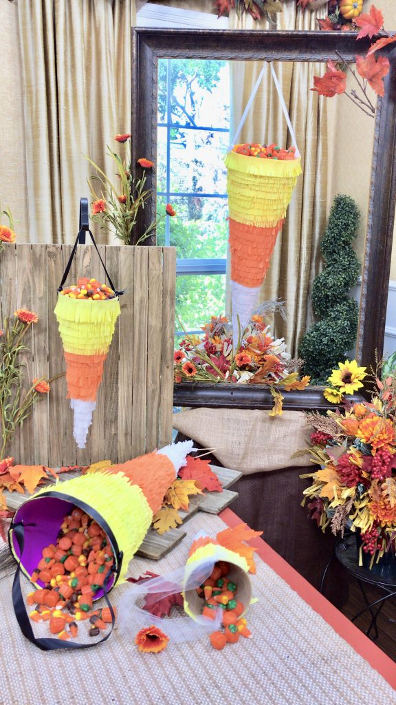 DIY Candy Corn Bags for Halloween