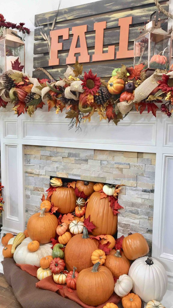 DIY Fall Mantle