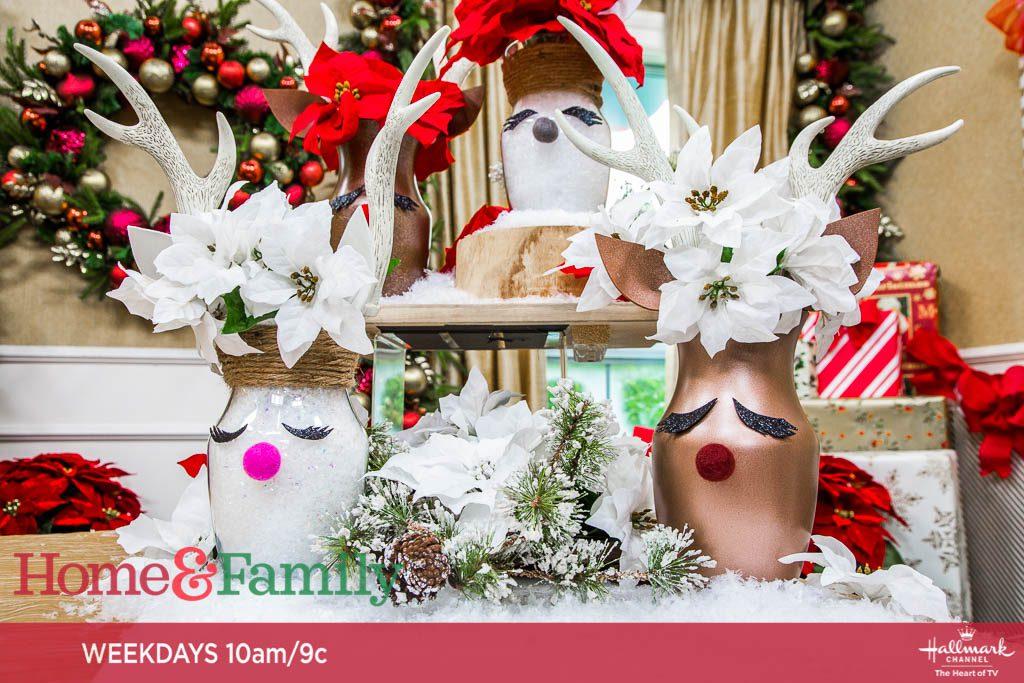 DIY Reindeer Vases