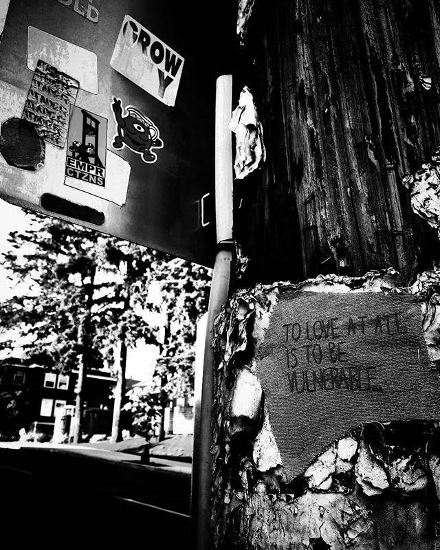 #love #art #artists #studio #signs #streetart #blackandwhite #rosecity #pdx #portland #oregon #sunshine #beauty #spreadlove