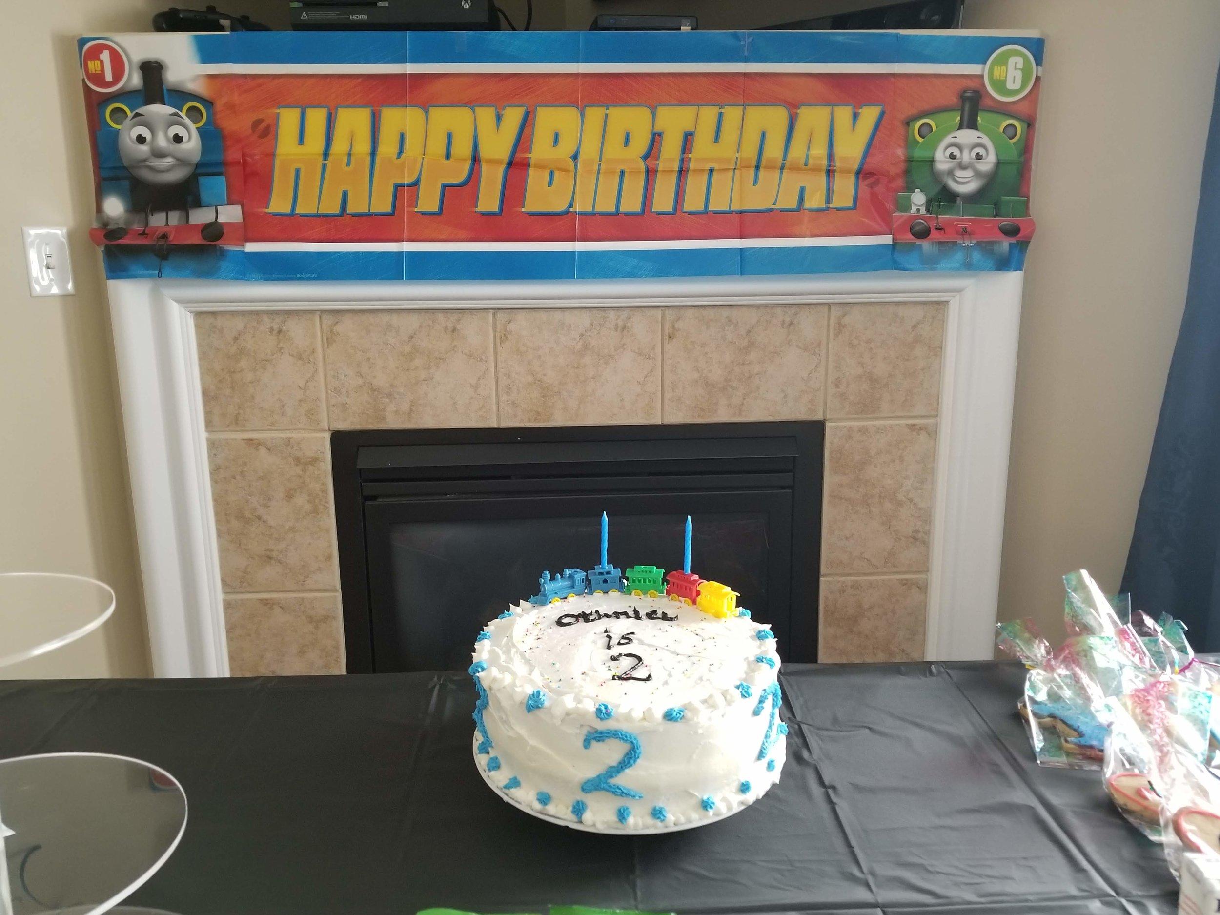 Decorated 2yr cake
