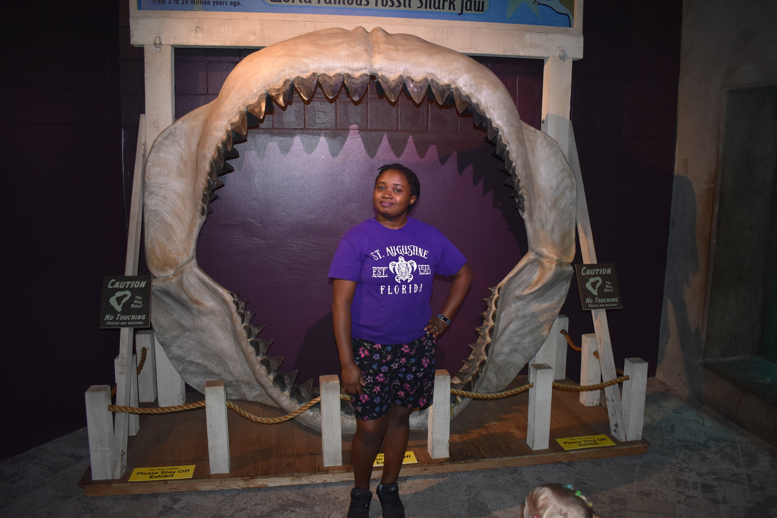 Standing Fiercely in front of Megalodon
