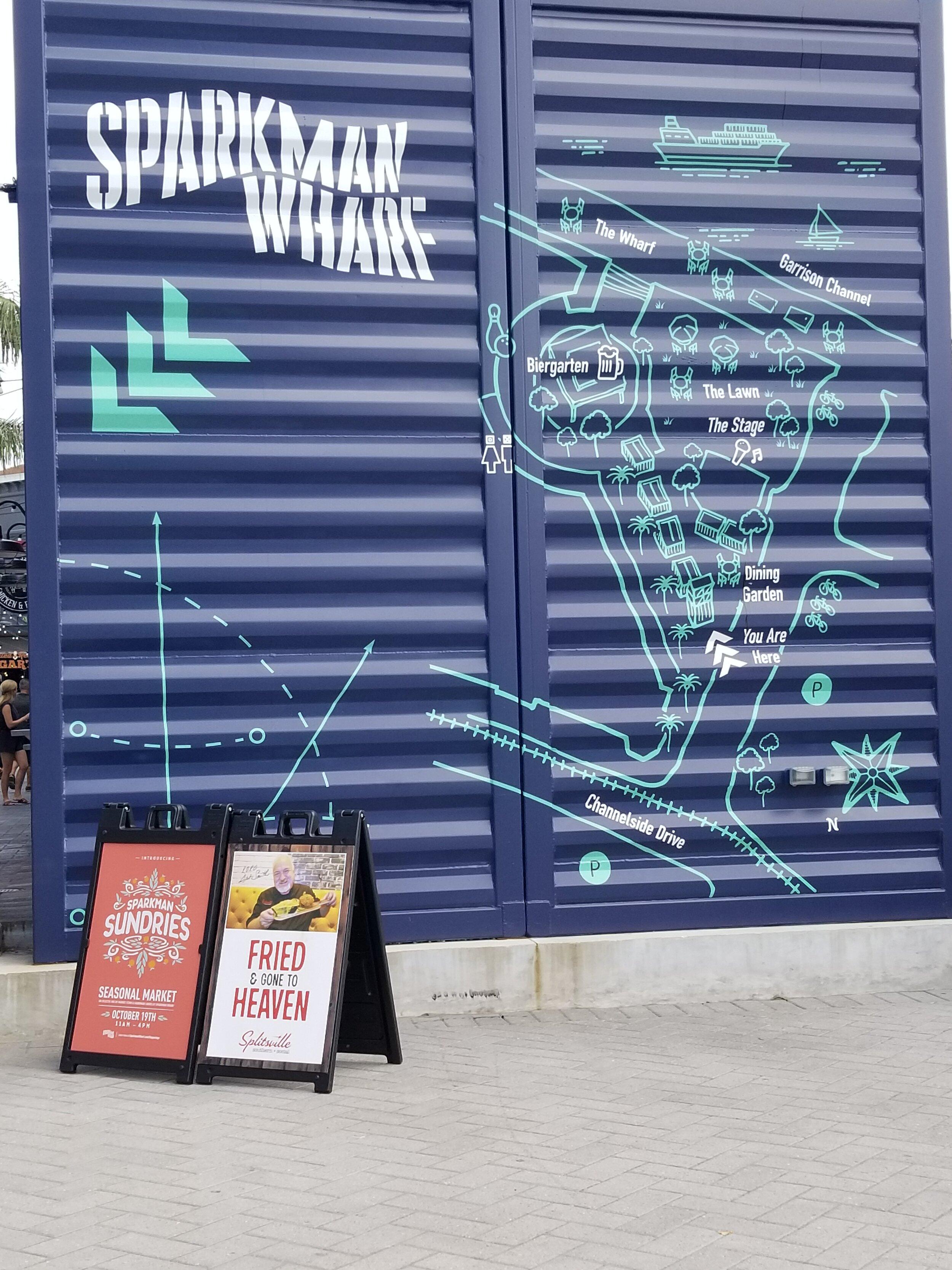 Sparkman Wharf Sign