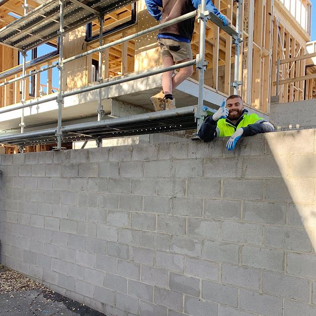 Thumbs up for our new blockwork at Mary Street. Residential apartments and single dwelling.