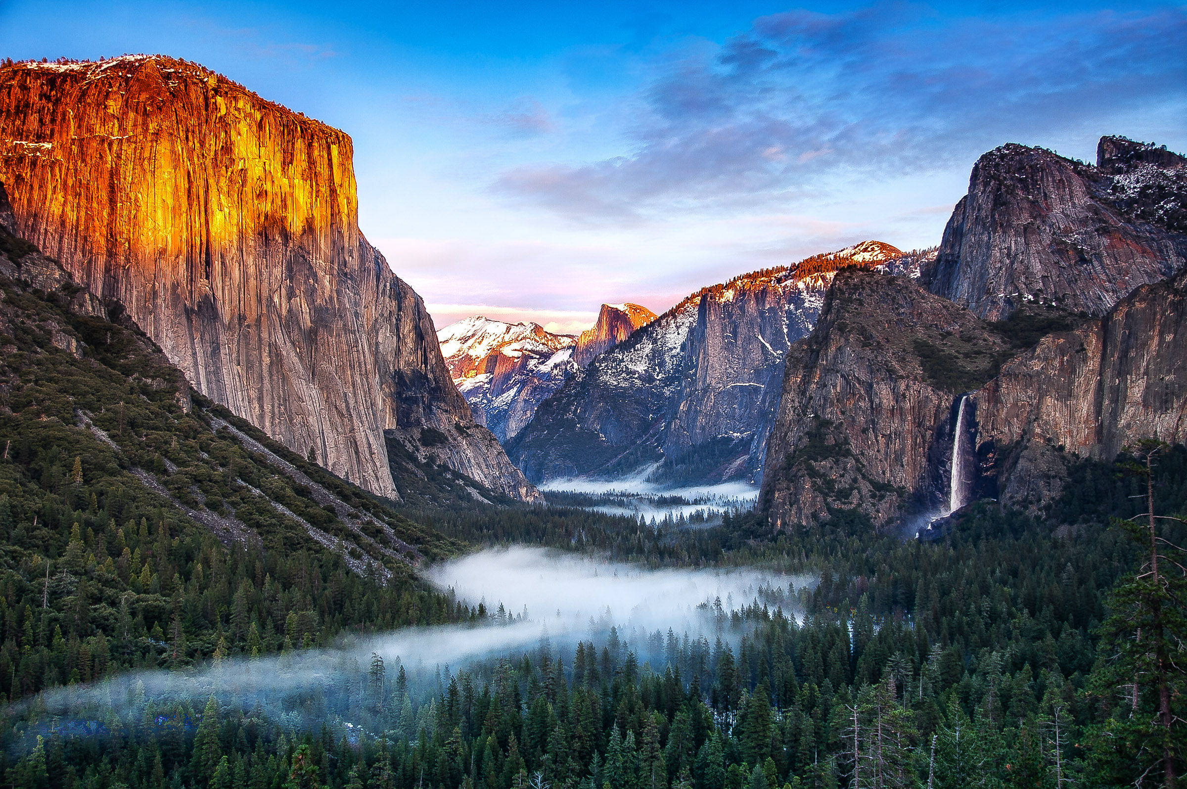 - Yosemite Valley, to me, is always a sunrise, a glitter of green and golden wonder in a vast edifice of stone and space. -Ansel Adams