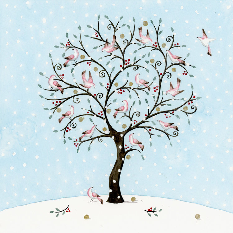 Tree of Pink Birds