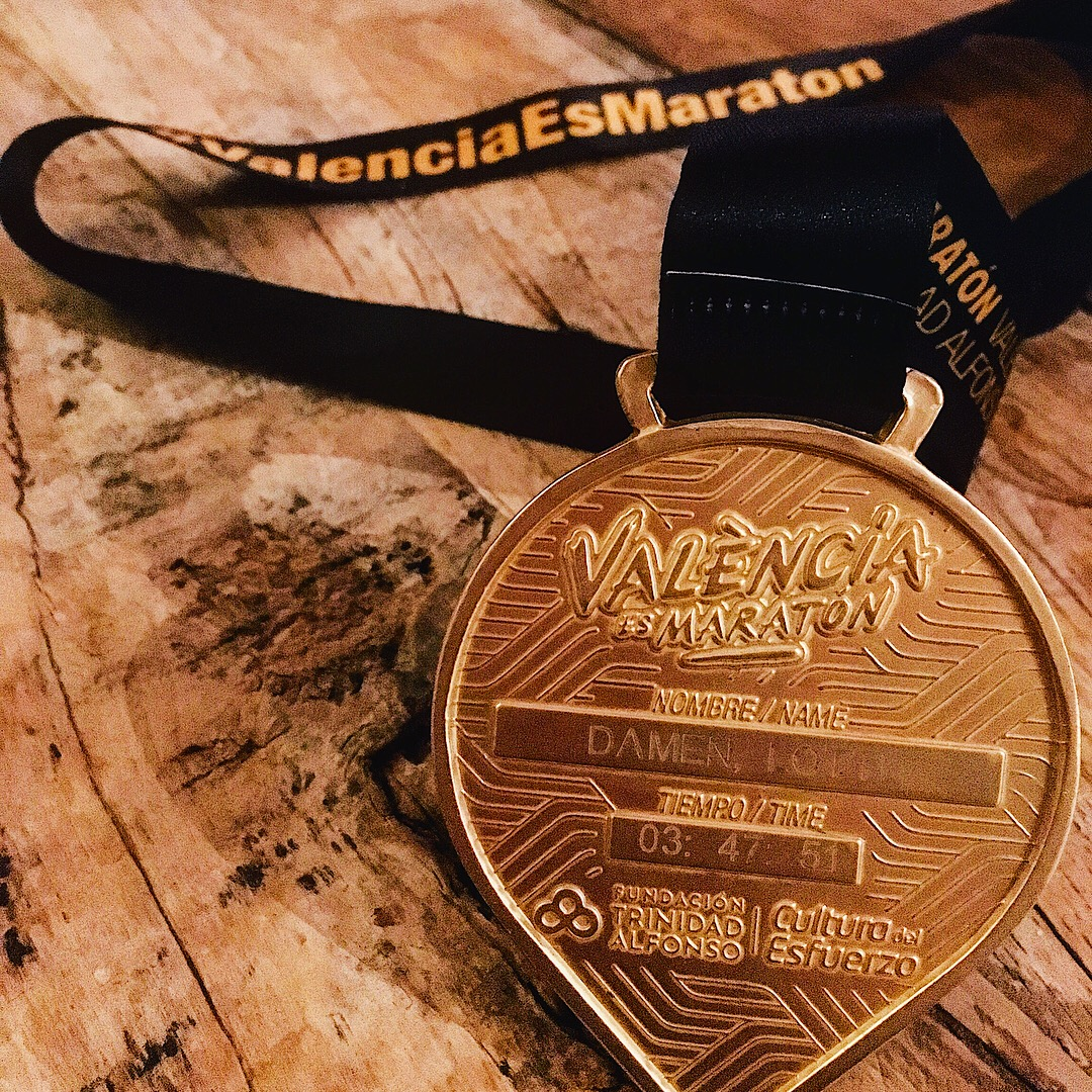 Well-deserved medal! Valencia Marathon 2018