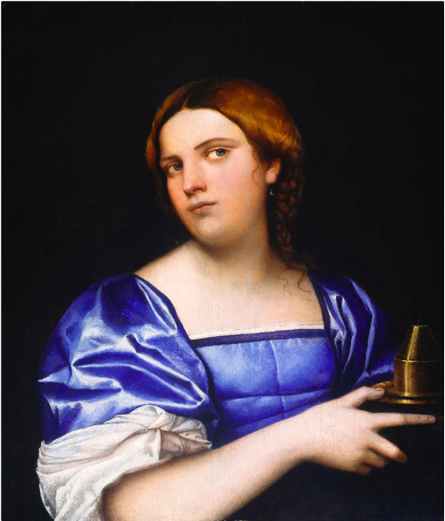 Sebastiano del Piombo, Portrait of a Young Woman as a Wise Virgin, c.1510