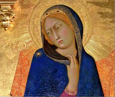 Simone Martini, Annunciation (detail), 1333