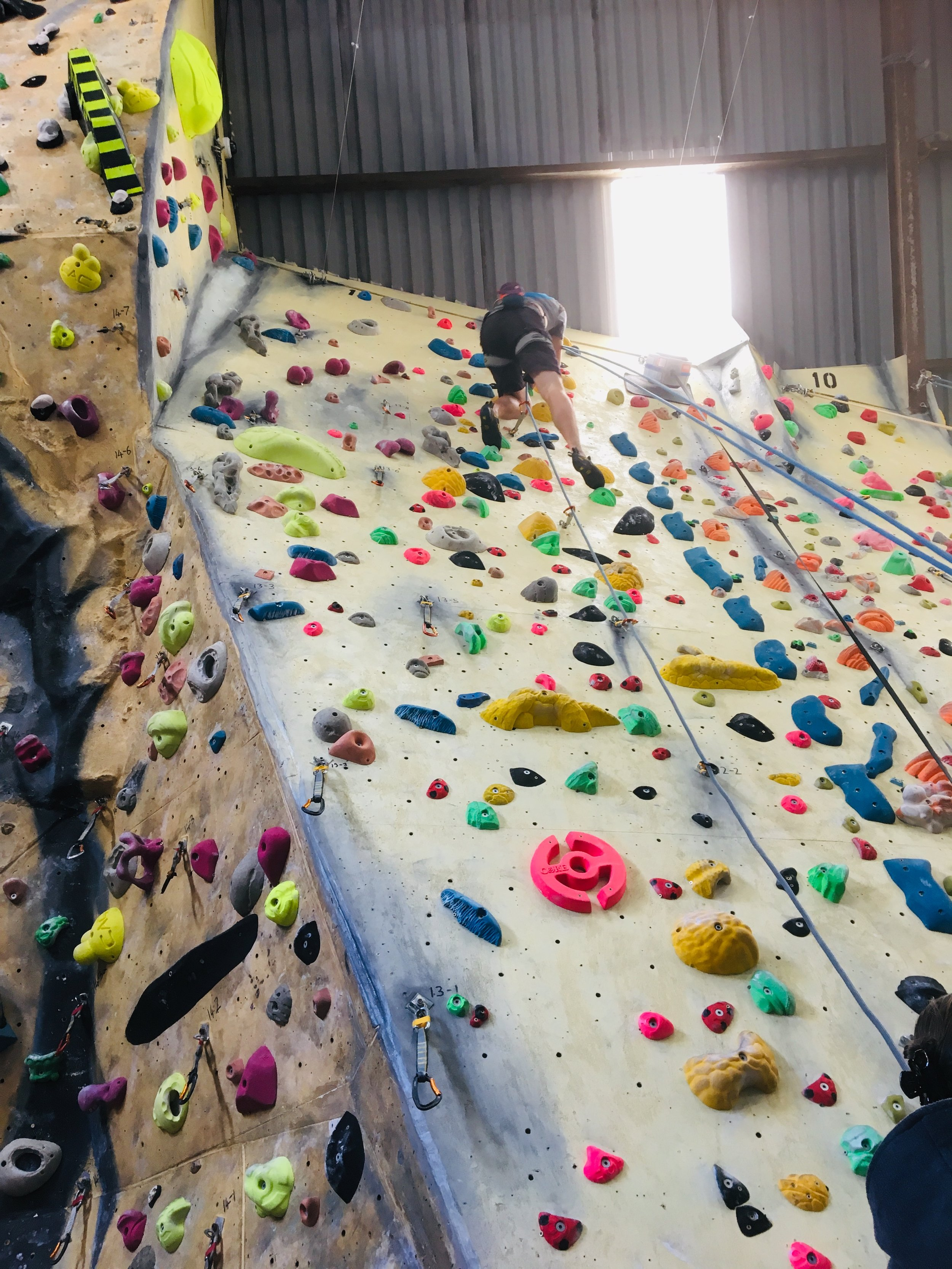 Hangers 12 & 13 - Hanger 12Fluro Pink (F7+) OJHanger 13No New Routes (May 20th)