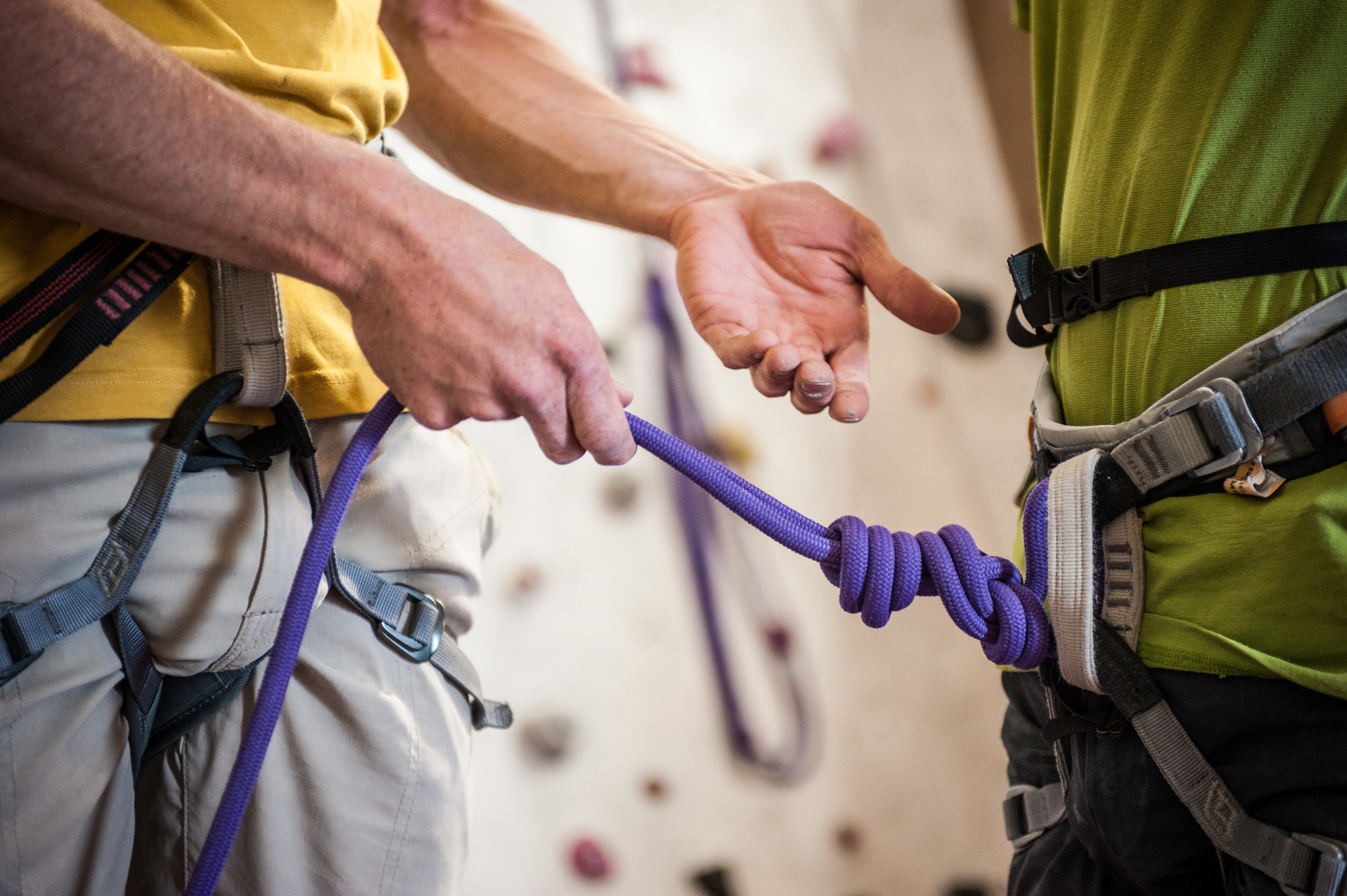 Beginners Course - This course is designed for people who are new to the sport and want to learn the skills required to safely use the top rope and Bouldering areas of the wall.