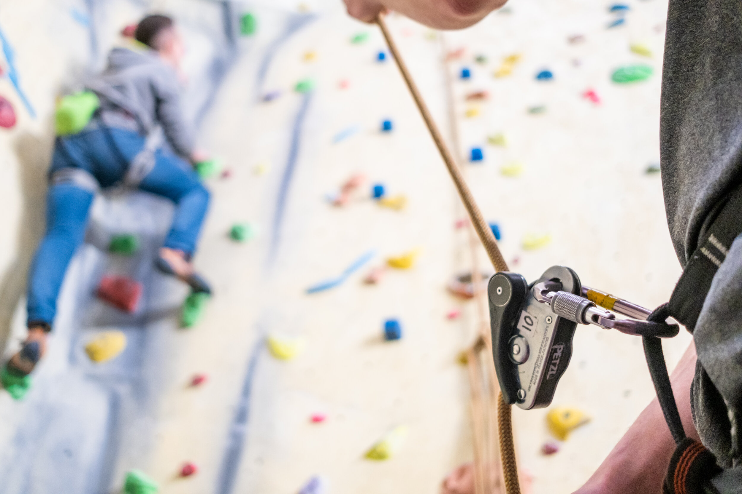 Want to learn the ropes? - Take a look at our Beginners course. This course is designed for people who are new to the sport and want to learn the skills required to safely use the top rope and Bouldering areas of the wall.