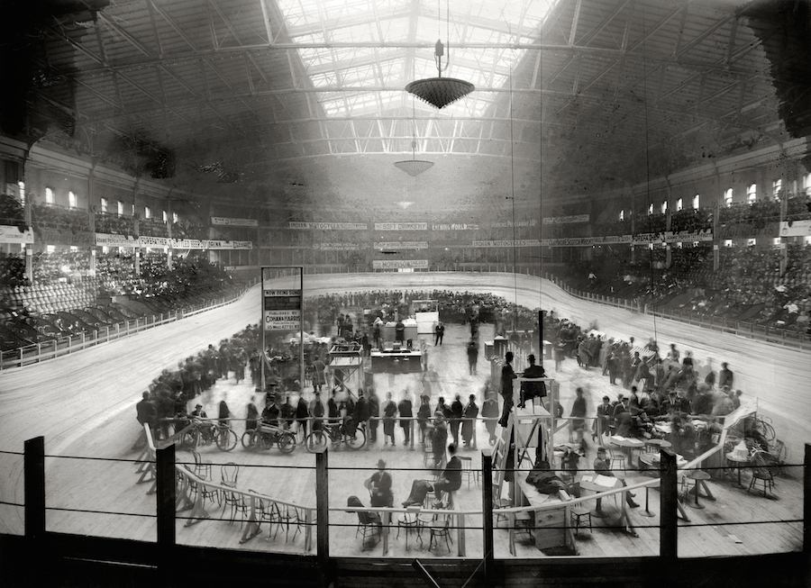Six Day Bicycle Race at Madison Square Garden, 1908 (George G. Bain; courtesy of the Library of Congress)