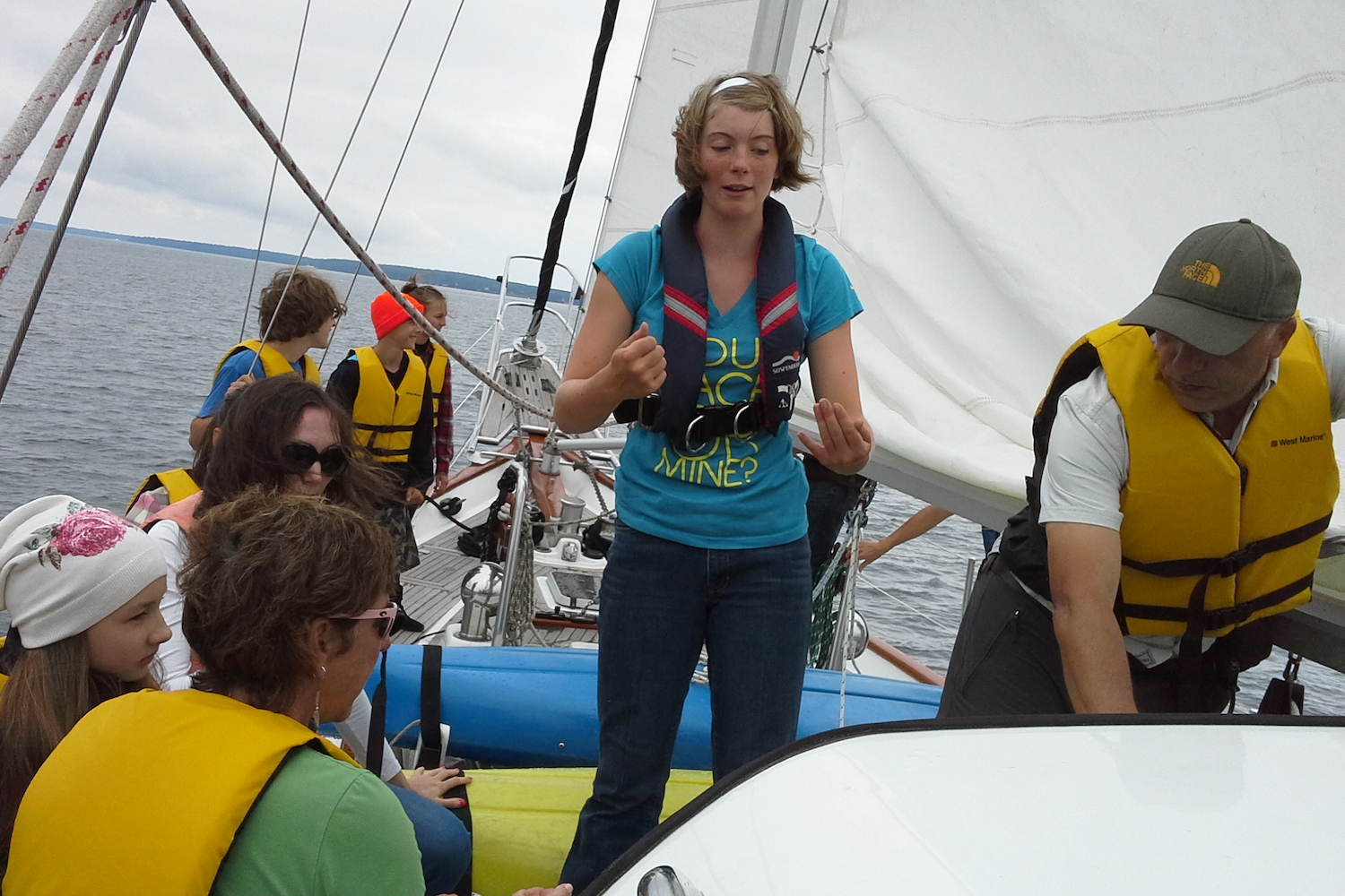 """Our Positive Impact - Since 2014 Lake Superior Tall Ships Inc. has been providing positive, life-changing outdoor sailing adventures to kids and adults in the Apostle Islands/Chequamegon Bay area aboard the Schooner Abbey Road.Our trips are """"Un-plugged"""" experiential learning voyages. Teamwork is required which fosters acceptance of others, cultivates personal responsibility and helps develop leadership skills. Longer trips can be physically and emotionally challenging for some participants—although not dangerous. As controlled risks are overcome by participants they discover hidden strengths, acquire new skills and increase self-confidence. We are very proud that we've had over 3,600 participants onboard the Abbey Road."""