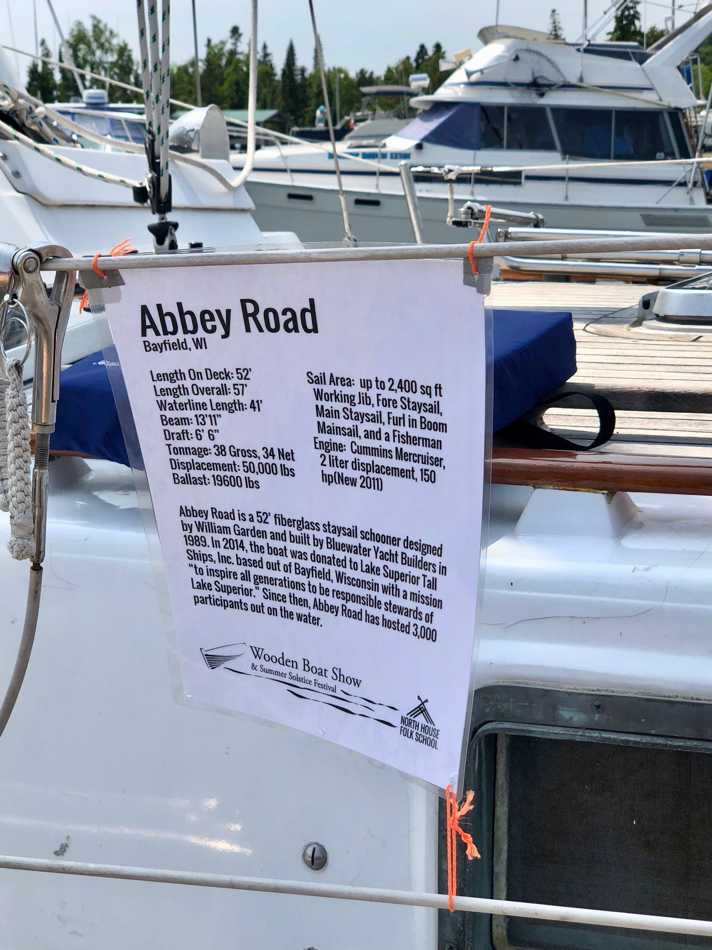 Abbey Road Sails To The Wooden Boat Show Grand Marais Lake