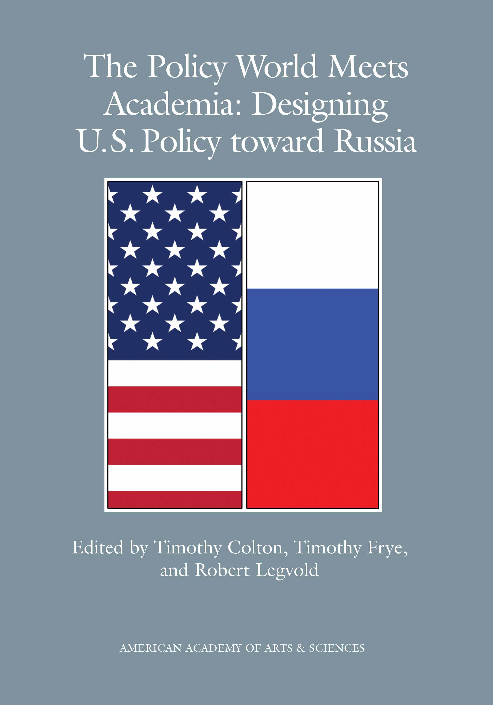 book cover_the policy world meets academia - designing US policy toward Russia.jpg