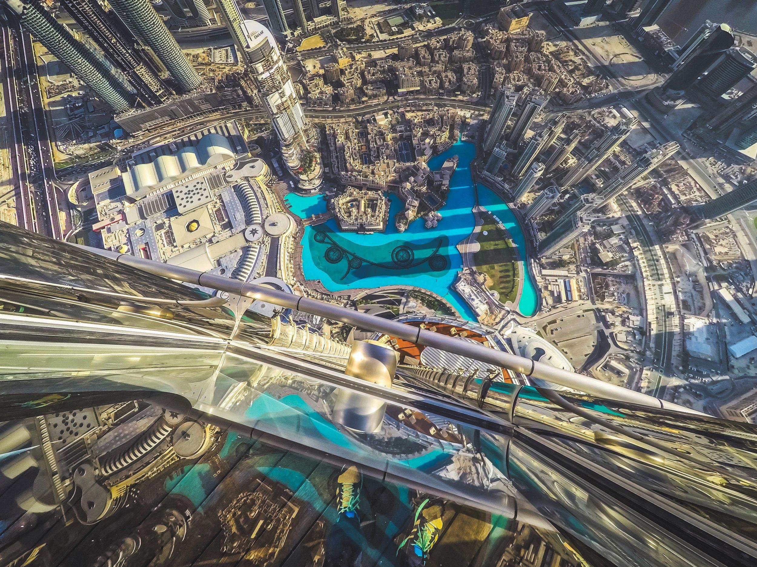 At the Top of the Burj Khalifa — Photo by ©  Frank Da Silva