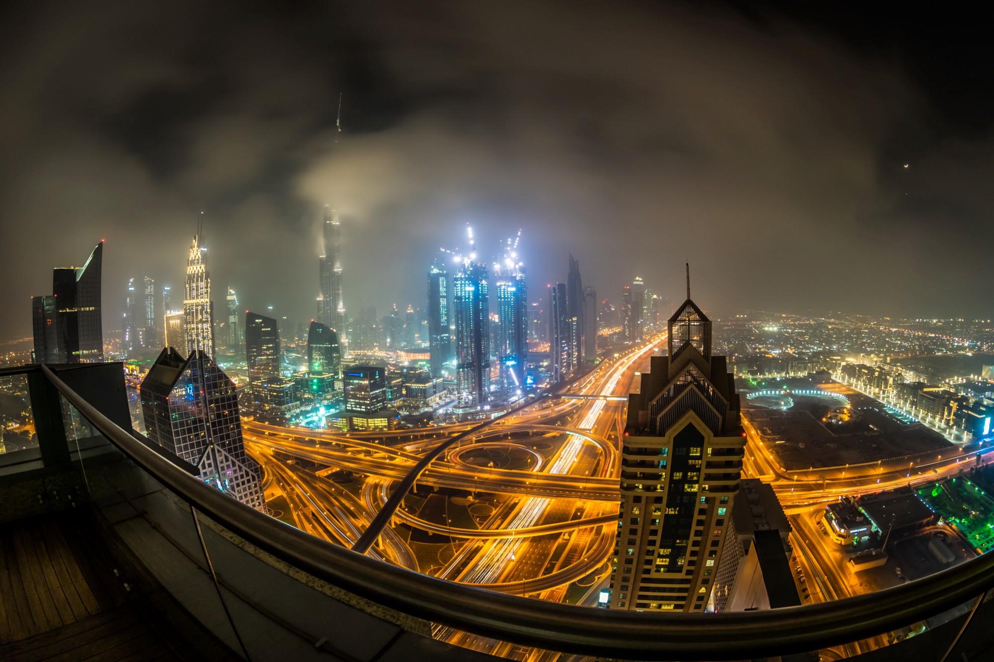 The view from Shangri-la Hotel Dubai — Photo by ©  Frank Da Silva