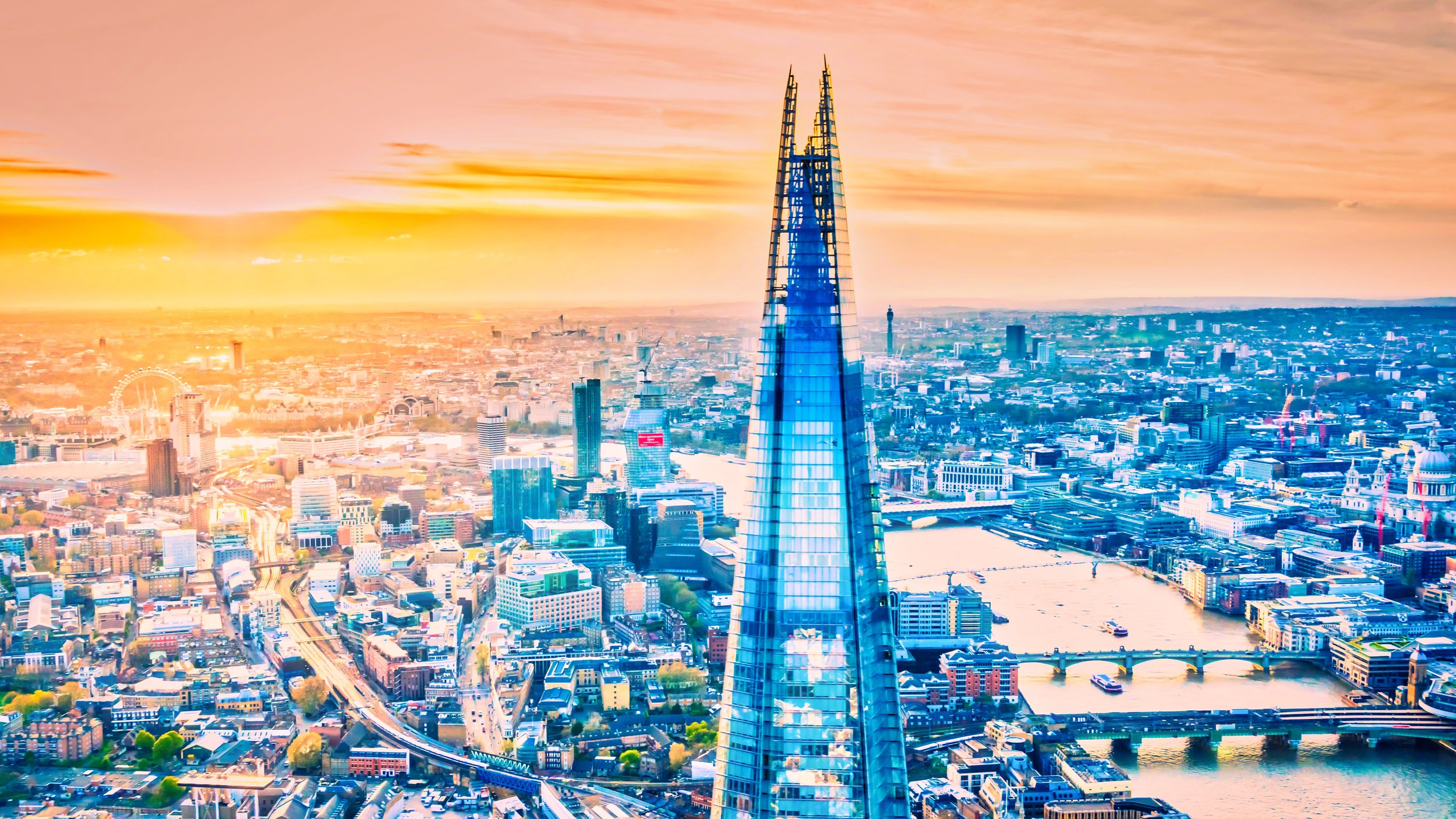 The Shard   , London - Aerial Photography.